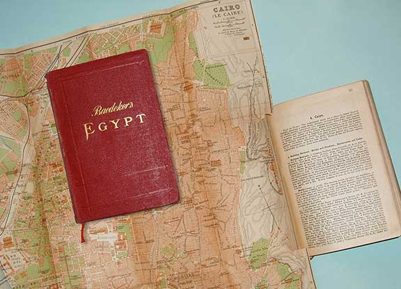 Baedeker Guides, collector editions, Egypt and the Sudan, pre-1945 guides, travel guide