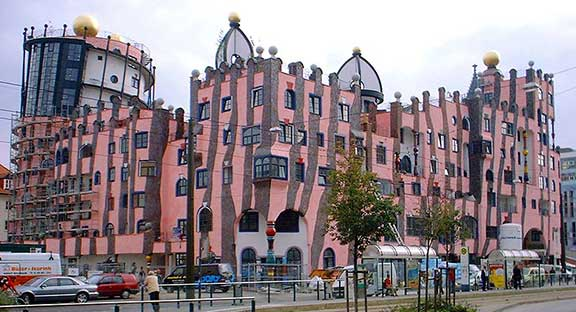 architect, architecture, Austrian artist, Friedensreich Hundertwasser, non-linear architecture, the devil's tools