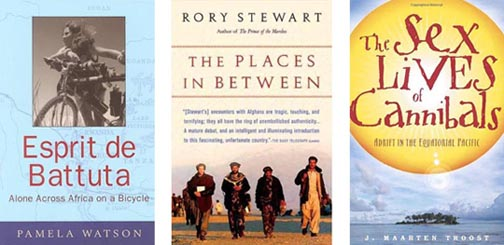 adventure travel, Afghanistan, Africa, Equatorial Pacific, J. Maarten Troost, off-the-beaten-path travel, Pamela Watson, personal journeys, Rory Stewart, The Places in Between, travel essays, travel writer, virtual travel