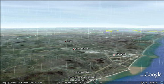 Google earth, real time displays, real time weather updates, virtual weather