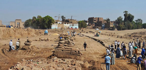 Avenue of Sphinxes, Egypt excavations,  archaeological digs, antiquities