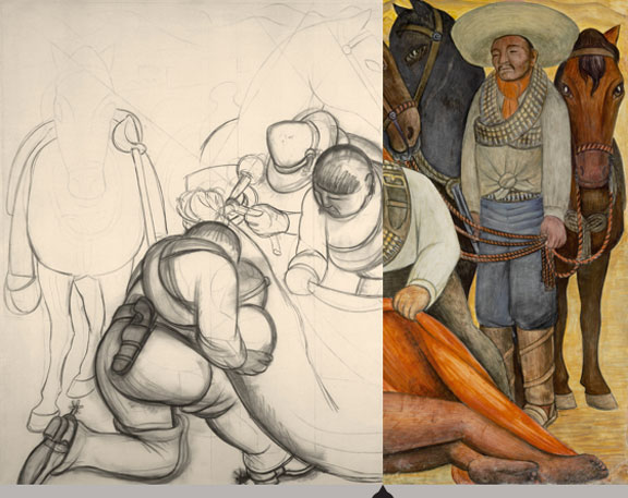 MoMA's Rivera murals, portable murals, NYC exhibits, frescoes, art for social causes