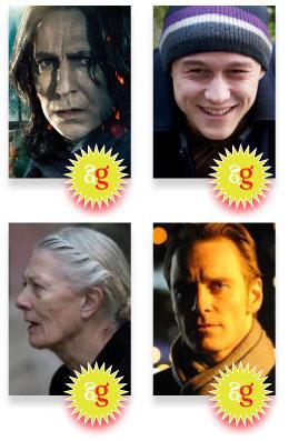 Snubs, omissions 2012, academy awards, Rickman, Gordon-Levitt, Redgrave, Fassbender
