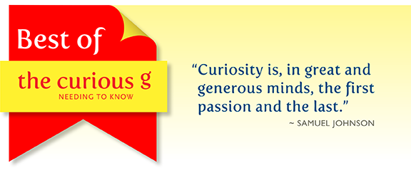best of the curious g blog, top posts