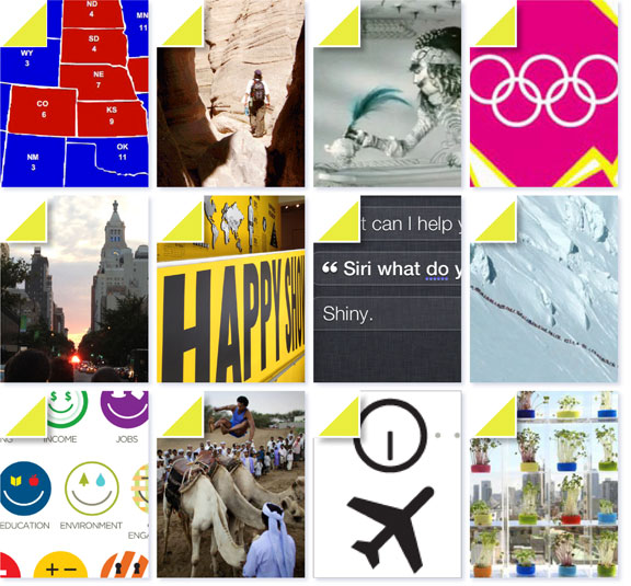 study of happiness, fun and humor, camels, off-the-beaten-path travel, mountaineering, year in review, what's happening in New York, locavores, remote workforce, olympics 2012, art exhibits, presidential election 2012