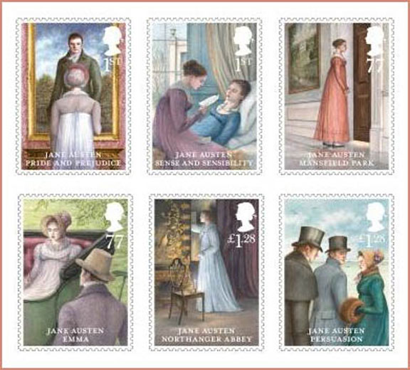 Universal truth, Jane Austen, literary happenings, worldwide celebrations, austen stamps