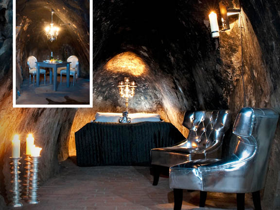 travel, travel accommodations, unusual hotels of the world, unique architecture, adventure travel, off-the-beaten-path, Sala Silvermine Underground Suite