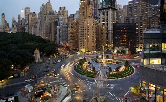 Traffic circles, rotaries, roundabouts, traffic flow, transportation patterns, what's happening in new york, humor, Columbus Circle