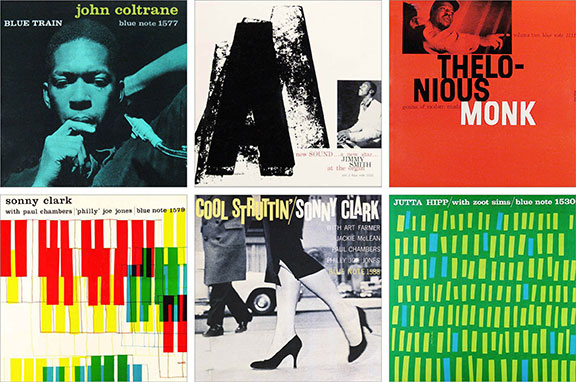 jazz label, iconic design, blue note records, vintage graphic design, classic Blue Note covers