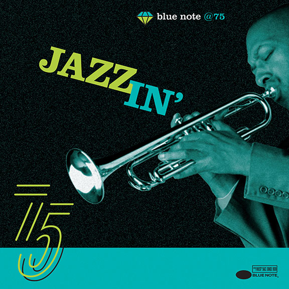 jazz label, iconic design, blue note records, vintage graphic design, homage to Blue Note,