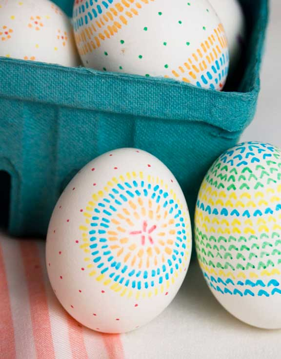 holiday celebrations, no-dye egg decorating, tips and ideas, easter egg decorating, easy egg decorating,