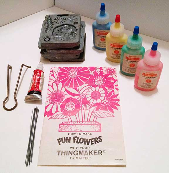 Thingmaker Fun Flowers, children's games, board games, vintage games and toys, entertainment, fun and humor,