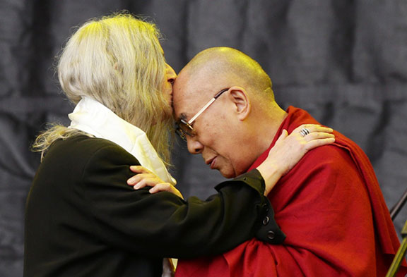 good karma, Patti Smith, Dalai Lama, Glastonbury Festival