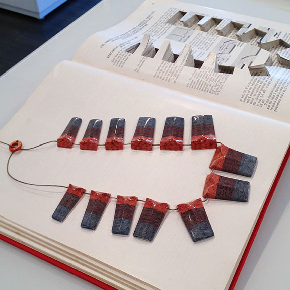 Wearable art, paper jewelry, book art, New York art exhibits, what's happening in New York, New York galleries, New York art scene, Read and Worn, literary jewels,