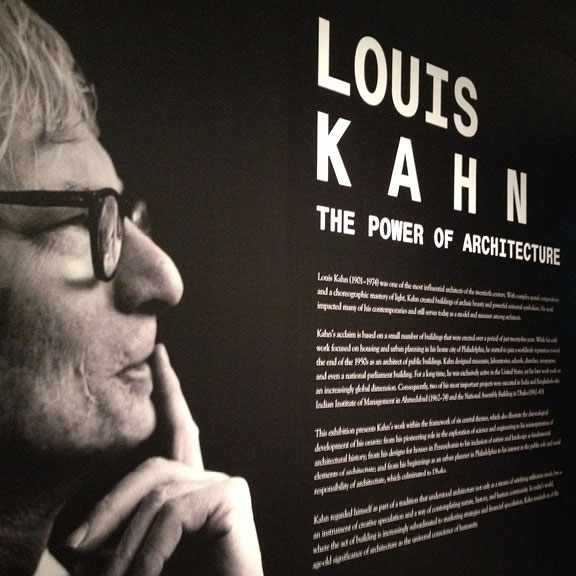 Architect Louis Kahn, The Power of Architecture, Fabric Workshop and Museum, architectural exhibition, architectural modernism, Kahn retrospective, review and commentary, © 2017 Janet Giampietro